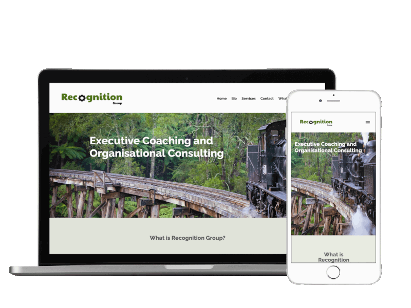 Image showing responsive design of Recognition Group website by Pixelhen Design
